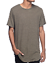 Rustic Dime Heather Olive & Black Elongated T-Shirt