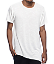 Rustic Dime Ivory Asymmetrical Elongated T-Shirt