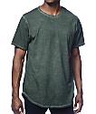 Rustic Dime Long Olive Oil Wash T-Shirt