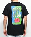 SUCC Nice Succ Flower Black T-Shirt