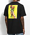 Salem7 Roses camiseta negra
