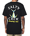 Salty Crew Chasing Tail Black T-Shirt