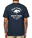Salty Crew Hard Bitten Navy T-Shirt