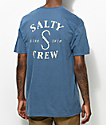 Salty Crew S Hook Heathered Blue T-Shirt