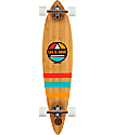 """San Clemente Classic Pyramid Bamboo 37.5""""  Pintail Longboard Complete"""