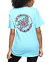 Santa Cruz Cali Tie Dye Dot Blue T-Shirt