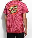Santa Cruz Classic Dot Red Tie Dye T-Shirt