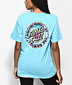 Santa Cruz Manufactured Tie Dye Dot Blue T-Shirt