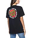 Santa Cruz Ringed Dot Black T-Shirt