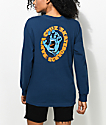 Santa Cruz Screaming Hand Blue Long Sleeve T-Shirt