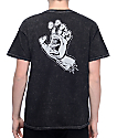 Santa Cruz Screaming Hand Mineral Black T-Shirt