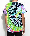 Santa Cruz Wave Dot Flashback Rainbow Tie Dye T-Shirt