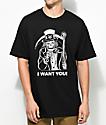 Sketchy Tank Sam Black T-Shirt