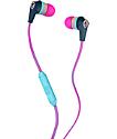 Skullcandy Ink'd 2.0 Mic'd Pink, Yellow & Navy Headphones
