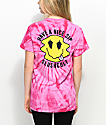 Slushcult Have A Nice Sip Pink Tie Dye T-Shirt