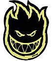 Spitfire Black Glow-In-The-Dark Bolts Small Sticker