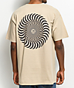 Spitfire Classic Swirl Sand T-Shirt
