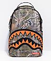 Sprayground Hunter Rubber Shark Camo & Orange Backpack
