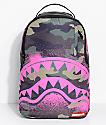 Sprayground Pink Stencil Shark Camo Backpack