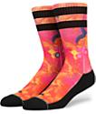 Stance Gutter Orange & Red Crew Socks