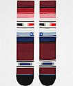 Stance Hatchets Burgundy Striped Crew Socks