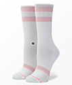 Stance Stay Sick White & Pink Classic Crew Socks