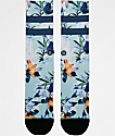 Stance Wipeout Floral & Blue Crew Socks