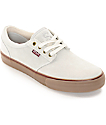 State Elgin Cream & Gum Suede Skate Shoes