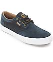 State Elgin Navy & Brown Suede Skate Shoes