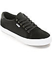 State Hudson Black & White Suede Skate Shoes