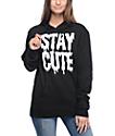 Stay Cute Black Pullover Hoodie