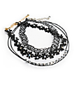 Stone + Locket Tattoo & Floral Lace Multipack Choker Necklaces