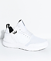 Supra Boys Method White, Black, Leather & Mesh Shoes