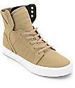 Supra Boys Skytop Kelp & White Skate Shoes