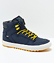 Supra Boys Vaider CW Brushed Nickel, Orange & Plaid Shoes