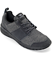 Supra Scissor Charcoal Knit, Black & Nubuck Shoes