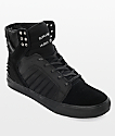 Supra Skytop EVO All Black Suede & Lycra Skate Shoes