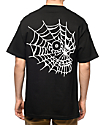 Swallows & Daggers Skull Web Black T-Shirt