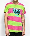 Teenage 3 Faces Green & Pink Tie Dye T-Shirt