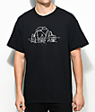The Bad Dads Club Camping Black T-Shirt