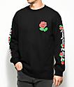 The Hundreds Big Rose Fill Black Long Sleeve T-Shirt