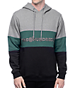 The Hundreds Canal Athletic Grey, Black & Green Hoodie