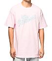 The Hundreds Clouds Slant Pink T-Shirt