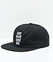 The Hundreds Die Black Snapback Hat
