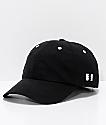 The Hundreds Rev Black Nylon Strapback Hat