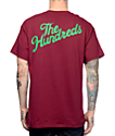 The Hundreds Slant Crest Burgundy Pocket T-Shirt