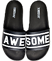 The White Brand Awesome Black & White Slide Women's Sandals