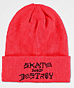 Thrasher Skate And Destroy Red Beanie