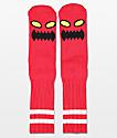 Toy Machine Monster Red Crew Socks