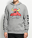 Toy Machine X RVCA Heather Grey Hoodie